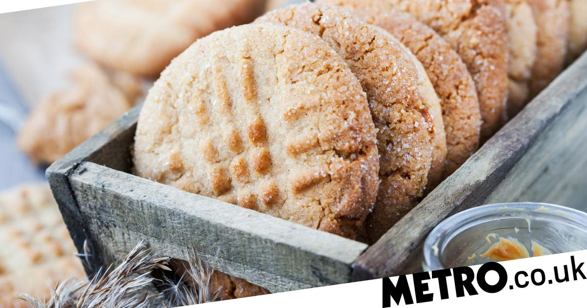 Three-ingredient peanut butter cookies are perfect to make during lockdown