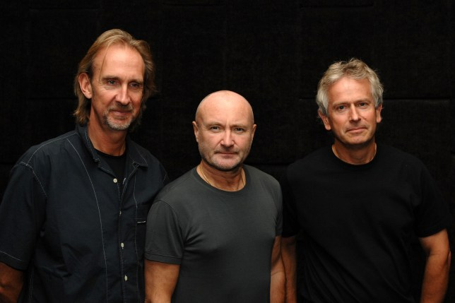 genesis band members phil collins, tony banks and mike rutherford