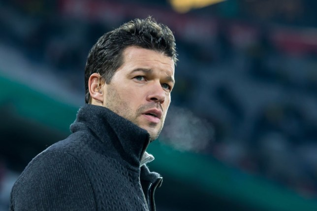 MUNICH, GERMANY - DECEMBER 20: Michael Ballack looks on prior to the DFB Cup match between Bayern Muenchen and Borussia Dortmund at Allianz Arena on December 20, 2017 in Munich, Germany. (Photo by TF-Images/TF-Images via Getty Images)