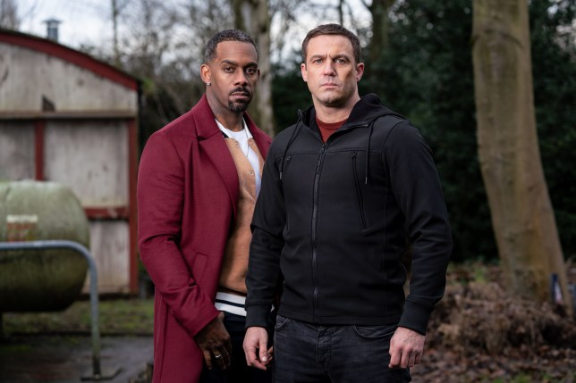 Felix and Warren in Hollyoaks