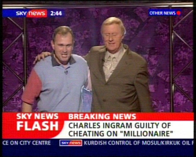 Charles Ingram with Chris Tarrant on ' Who Wants To Be A Millionaire'. CHARLES AND DIANA INGRAM,BOTH 39, FOUND GUILTY OF CHEATING ON THE TV PROGRAMME 'WHO WANTS TO BE A MILLIONAIRE'