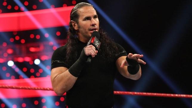 Former WWE superstar Matt Hardy addresses the Monday Night Raw crowd