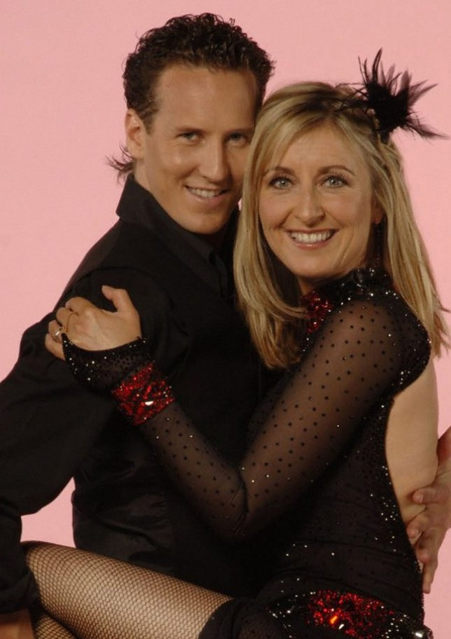 Fiona Phillips and Brendan Cole on Strictly Come Dancing