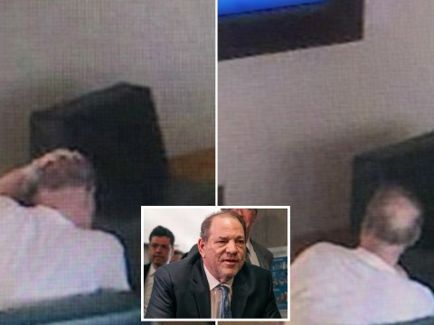Harvey Weinstein watches TV in first images from hospital as lawyer says convicted rapist is 'going stir crazy'