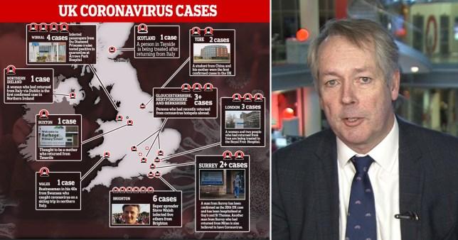 Comp of coronavirus and PHE Paul Cosford