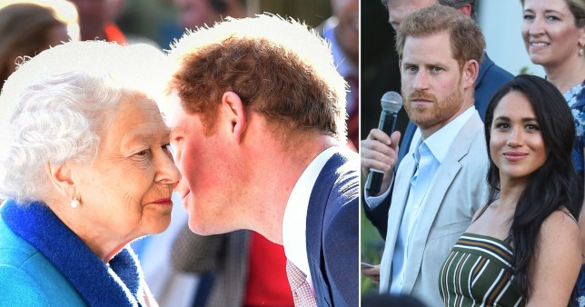Harry and Meghan are completing their final official engagements as senior royals in the coming days (Picture: metro.co.uk)