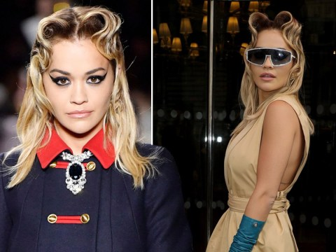 Rita Ora takes over Paris Fashion Week as she hits the runway for Miu Miu