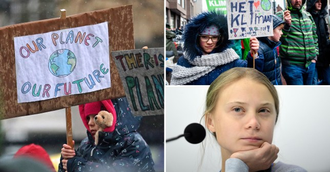 Greta Thunberg and climate change march