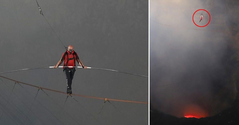 Nik Wallenda has previously traversed Times Square on a tightrope suspended between two skyscrapers, the Grand Canyon gorge and Niagara Falls.