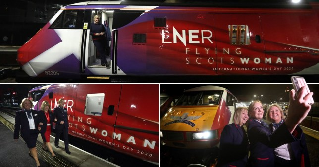All-female trains for International Women's Day