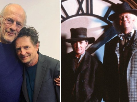 Michael J Fox and Christopher Lloyd reunite at charity poker tournament and we've gone back to the future