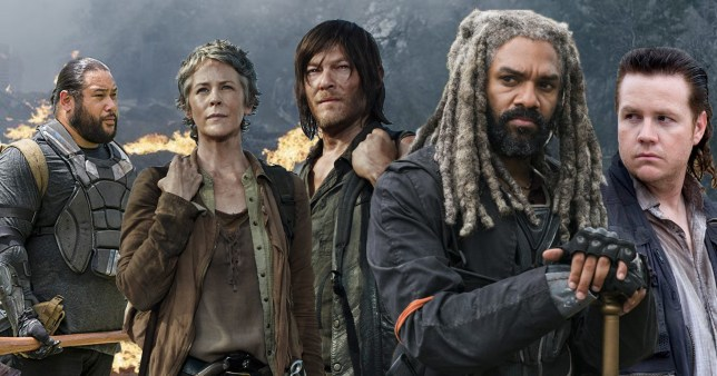 The Walking Dead: Jerry, Carol, Daryl, The King, Eugene