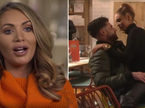 Amy Childs 'romps with roofer' in toilets during X-rated Celebs Go Dating double date