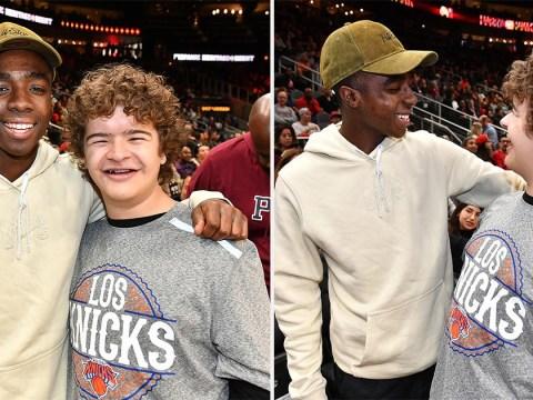 Caleb McLaughlin and Gaten Matarazzo's Stranger Things reunion at New York Knicks game will make your day