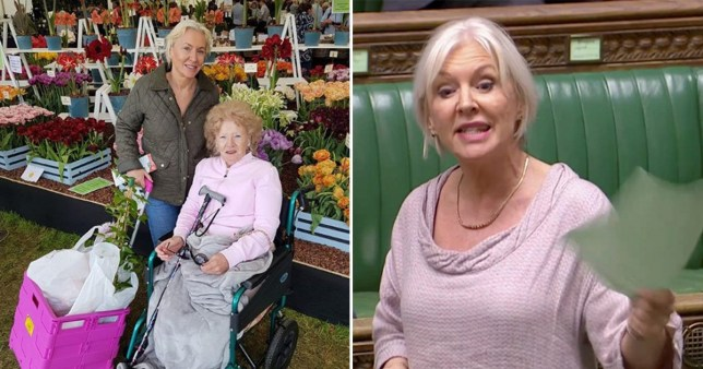 Nadine Dorries and her mother Sylvia Dall