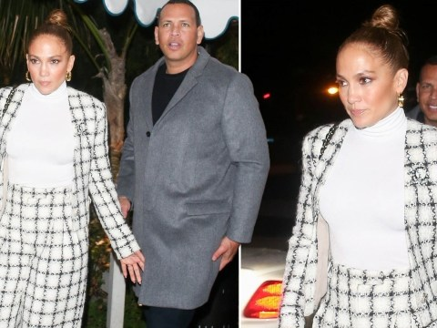 Jennifer Lopez is a style queen in checkered suit for date night with fiancé Alex Rodriguez in LA