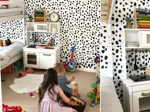 Thrifty mum transforms daughter's bedroom for £2 using paint tester pots