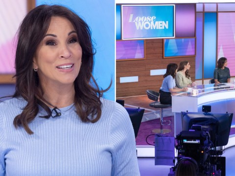 Loose Women walk out to solo cheers from floor manager as the show films without live studio audience over coronavirus
