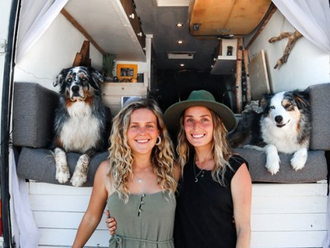 Couple ditch expensive rent to travel the world in a converted van with their dogs