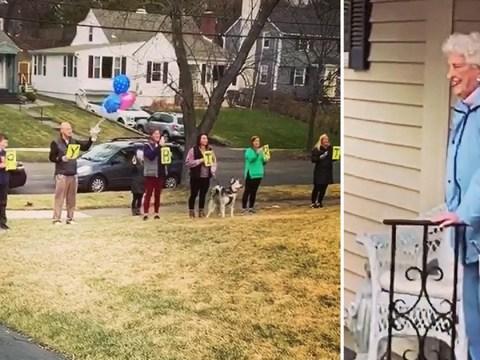 Coronavirus US: Family celebrate grandma's 95th birthday while social distancing