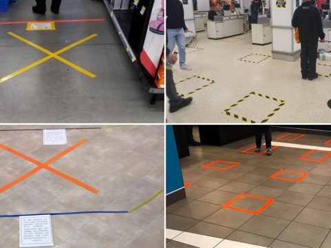 Please pay attention to the tape markings in McDonald's, Tesco, Lidl and other stores