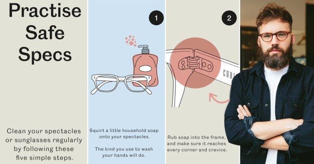 INSTRUCTIONS ON HOW TO CLEAN GLASSES