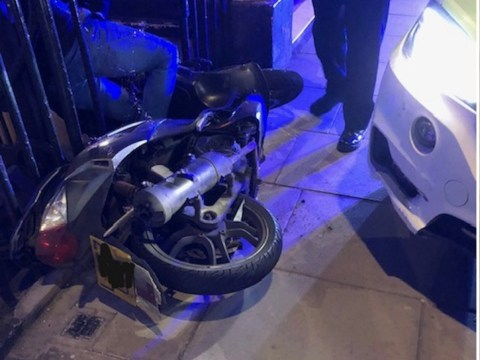 Driver who 'charged at officers in Trafalgar Square' rammed off moped and Tasered by police