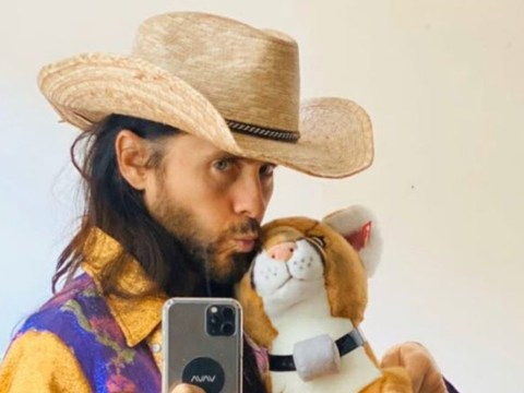 Jared Leto blesses us with incredible Tiger King costume and says he digs the mullet