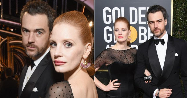 Jessica Chastain and her husband