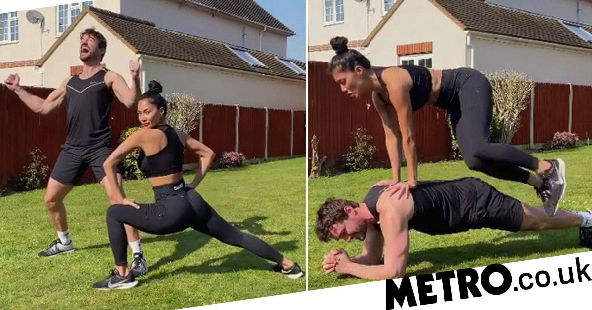 Nicole Scherzinger and Thom Evans share couple workout video amid lockdown