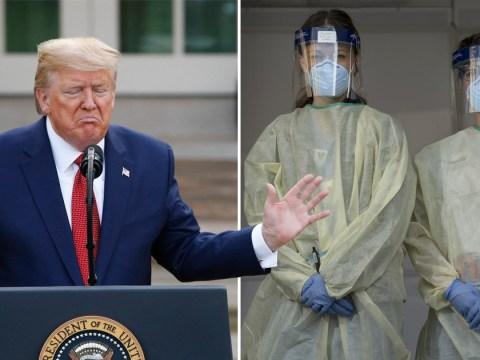 Donald Trump accuses hospital staff of stealing coronavirus masks