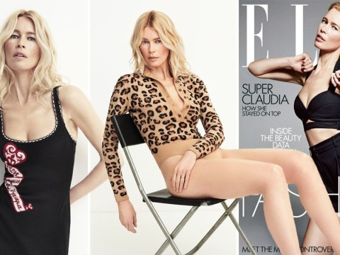 Claudia Schiffer says she had security to 'guard her underwear' as she dishes on 'insane' days of being an original supermodel