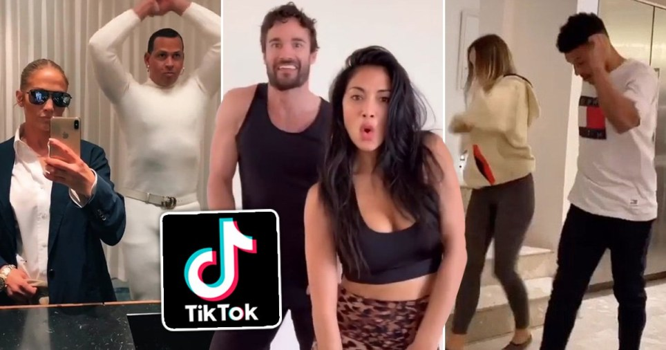 celebrities doing tiktok challenges