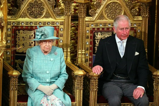 Queen Elizabeth II and the Prince of Wales sit in the chamber ahead of the State Opening of Parliament by the Queen, in the House of Lords at the Palace of Westminster in London. PA Photo. Picture date: Thursday December 19, 2019. See PA story POLITICS Speech. Photo credit should read: Aaron Chown/PA Wire