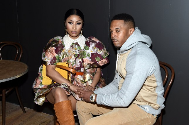 NEW YORK, NEW YORK - FEBRUARY 12: Nicki Minaj and Kenneth Petty attend the Marc Jacobs Fall 2020 runway show during New York Fashion Week on February 12, 2020 in New York City. (Photo by Jamie McCarthy/Getty Images for Marc Jacobs)