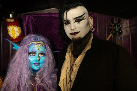 Lhouraii Li with her boyfriend Nathan in Gothic makeup