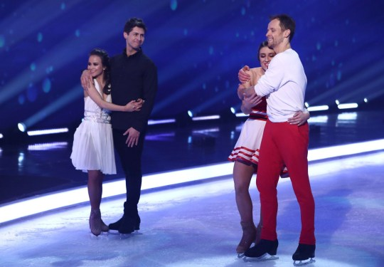 Editorial use only Mandatory Credit: Photo by Matt Frost/ITV/REX (10568890fu) Ben Hanlin, Carlotta Edwards, Libby Clegg and Mark Hanretty 'Dancing On Ice' TV show, Series 12, Episode 9, Hertfordshire, UK - 01 Mar 2020