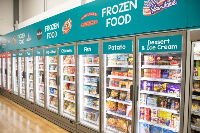 Undated handout photo issued by Poundland of the retailer's new frozen range. Shoppers will be able to buy frozen and chilled foods from 60 stores in coming weeks after expanding a successful trial. PA Photo. Issue date: Monday March 2, 2020. See PA story CONSUMER Poundland. Photo credit should read: Poundland/PA Wire NOTE TO EDITORS: This handout photo may only be used in for editorial reporting purposes for the contemporaneous illustration of events, things or the people in the image or facts mentioned in the caption. Reuse of the picture may require further permission from the copyright holder.