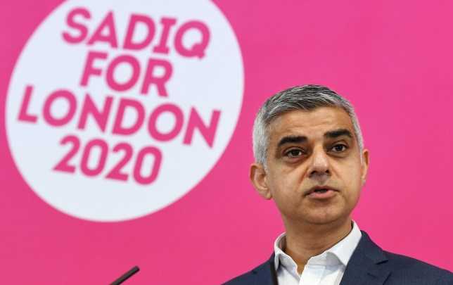 epa08266159 London Mayor Sadiq Khan announces the launch of his re-election campaign for a second term as the British capital's top official at a press conference in London, Britain, 03 March 2020. Londoners will vote on 07 May 2020 to elect their next mayor. EPA/ANDY RAIN