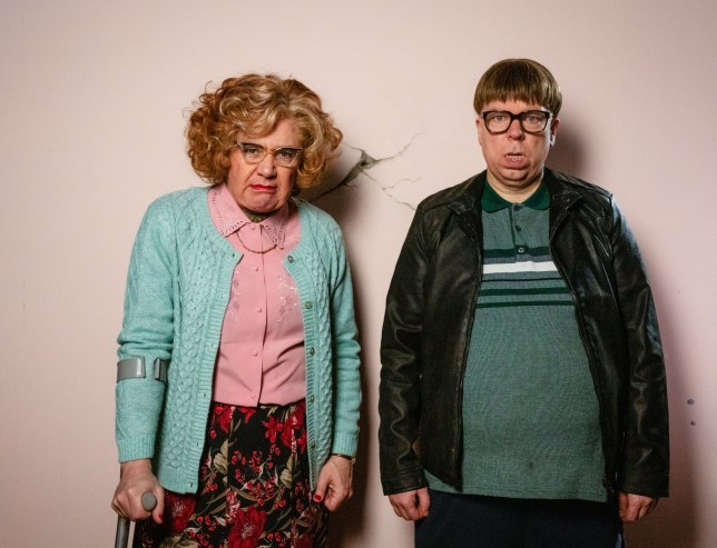 Programme Name: Inside No. 9 Series 5 - TX: n/a - Episode: Death Be Not Proud (No. 2) - Picture Shows: **STRICTLY EMBARGOED UNTIL - POST TX ONLY ** Maureen (REECE SHEARSMITH), David Sourbutts (STEVE PEMBERTON) - (C) BBC - Photographer: Sophie Mutevelian