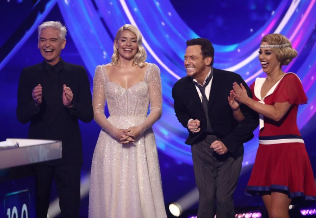 Phillip Schofield, Holly Willoughby, Joe Swash and Alex Murphy on dancing on ice