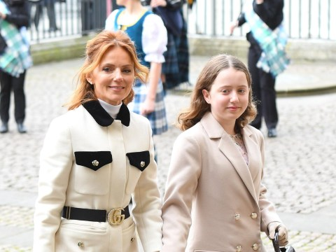 Geri Horner and daughter Bluebell attend Harry and Meghan's last royal engagement at Westminster Abbey