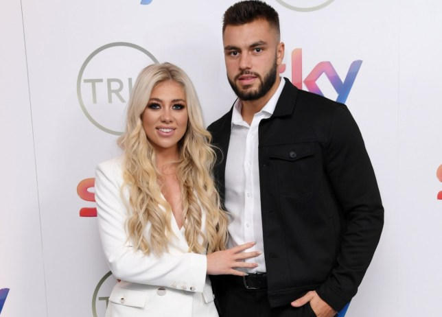 Mandatory Credit: Photo by David Fisher/REX (10578623bu) Paige Turley and Finley Tapp The TRIC Awards, Arrivals, Grosvenor House, London, UK - 10 Mar 2020