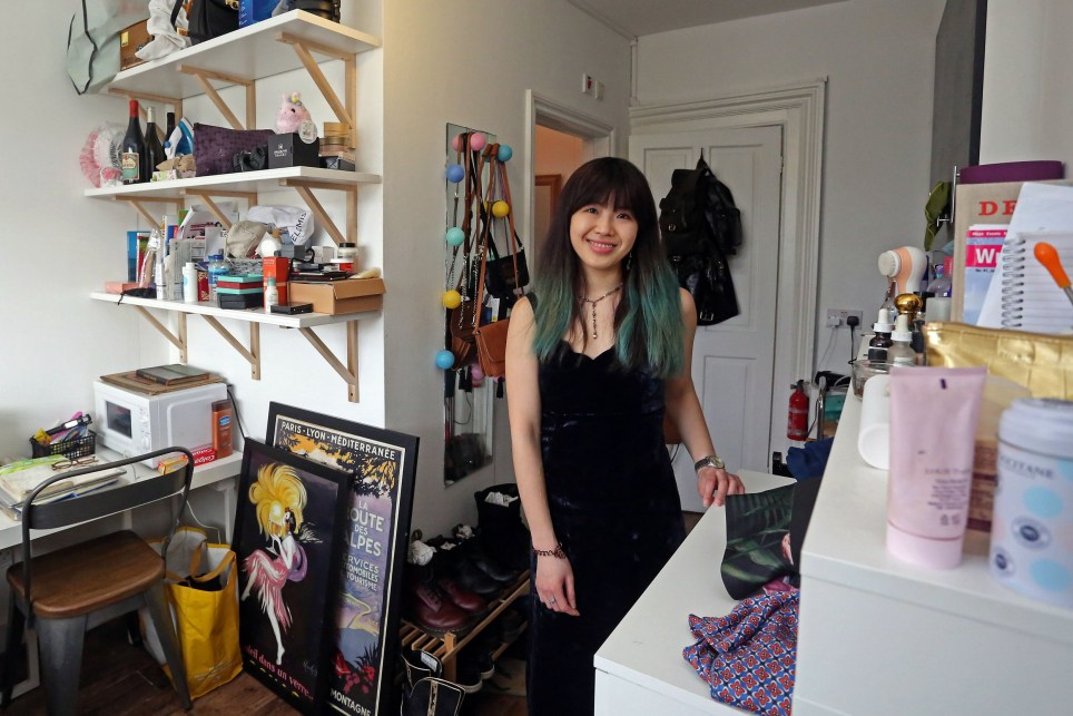 BETHNAL GREEN, LONDON, MARCH 14TH 2020. WHAT I RENT: BETHNAL GREEN Tenant Anita Lo is pictured in her studio flat in Bethnal Green, London, March 14th 2020. Anita pays ?900 a month which includes all utility bills, internet and laundry facilities. Photo credit: Susannah Ireland