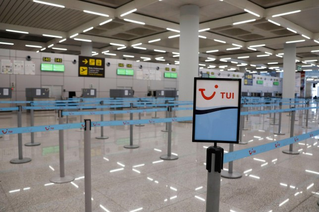 Alamy Live News. 2B7D1YP Palma, Spain. 15th Mar, 2020. A TUI board is standing at the almost empty airport of Palma de Mallorca after the coronavirus alarm was declared. To combat the coronavirus epidemic more effectively, Spain has imposed a two-week so-called state of alert, which amounts to restricting freedom of movement throughout the country. Credit: Clara Margais/dpa/Alamy Live News This is an Alamy Live News image and may not be part of your current Alamy deal . If you are unsure, please contact our sales team to check.
