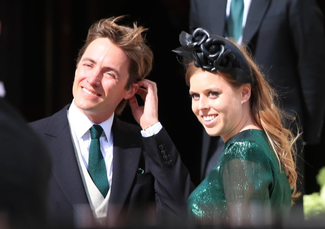 File photo dated 31/08/19 of Princess Beatrice and her fiance Mr Edoardo Mapelli Mozzi, who are due to marry on May 29 in the Chapel Royal at St James's Palace, Buckingham Palace. Events in the royal calendar could be affected after Prime Minister Boris Johnson warned that the Government is no longer supporting mass gatherings. PA Photo. Issue date: Monday March 16, 2020. See PA story HEALTH Coronavirus. Photo credit should read: Peter Byrne/PA Wire