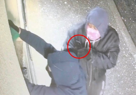 Date: 17 March 2020 Pictured: The Arsonists carrying out the attack which they filmed. Video Link Here: https://we.tl/t-foo2AcavIQ This is the shocking moment arsonists torched AND FILMED THE ATTACK at the strip club where Love Island star Megan Barton-Hanson used to dance. ??The footage shows two masked men smash the window of the newly refurbished Pink Papers, in Southend-on-Sea, Essex, and pour petrol through the window. Words: Essex News and Pictures.