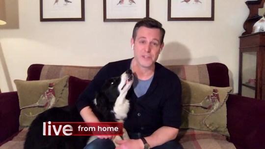DM HD VideoGrab credit BBC One Show 17/03/2020 Host Alex Jones in the studio Host Matt Baker sofa at home