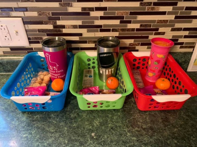 Image result for kids snacks for the day in basket