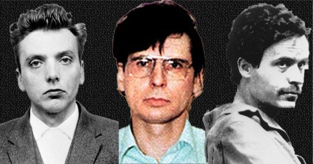 Three serial killers: Ian Brady, Dennis Nilsen and Ted Bundy